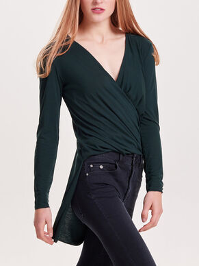 WRAP LONG SLEEVED TOP