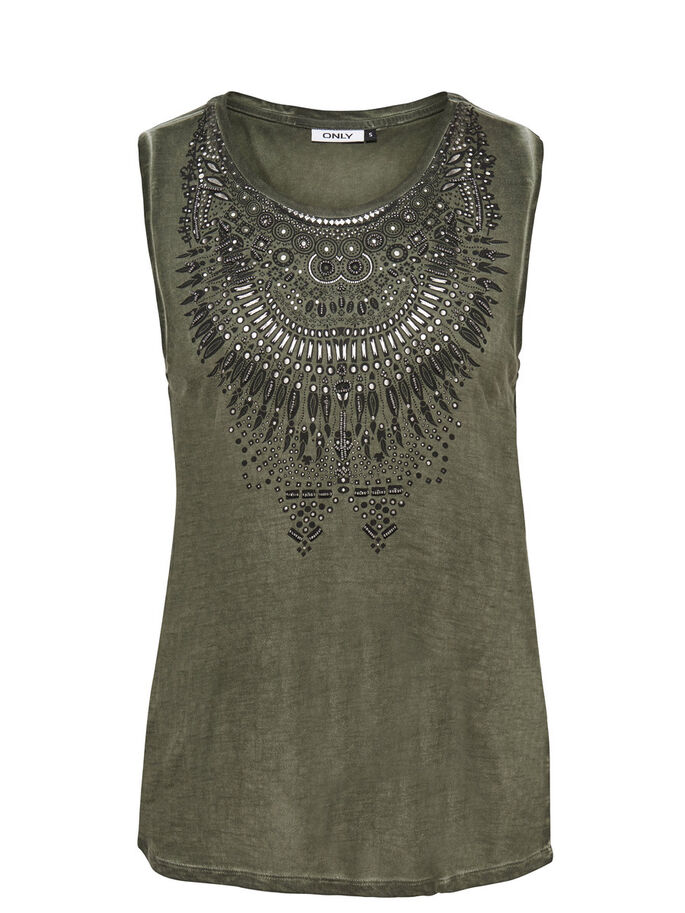 DETAILED SLEEVELESS TOP, Grape Leaf, large
