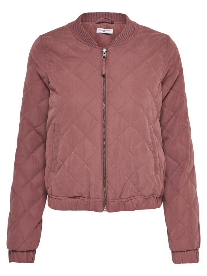 GEWATTEERDE BOMBER JAS, Rose Brown, large