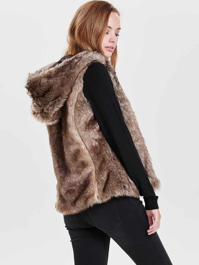 FELL-LOOK- WESTE, Silver Mink, large