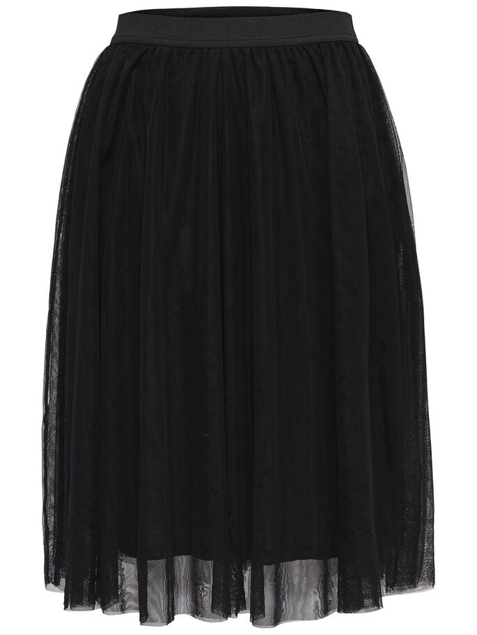 MESH SKIRT, Black, large