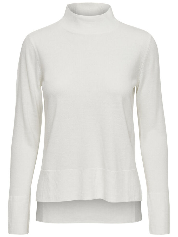 LONG SLEEVED TURTLENECK, Cloud Dancer, large