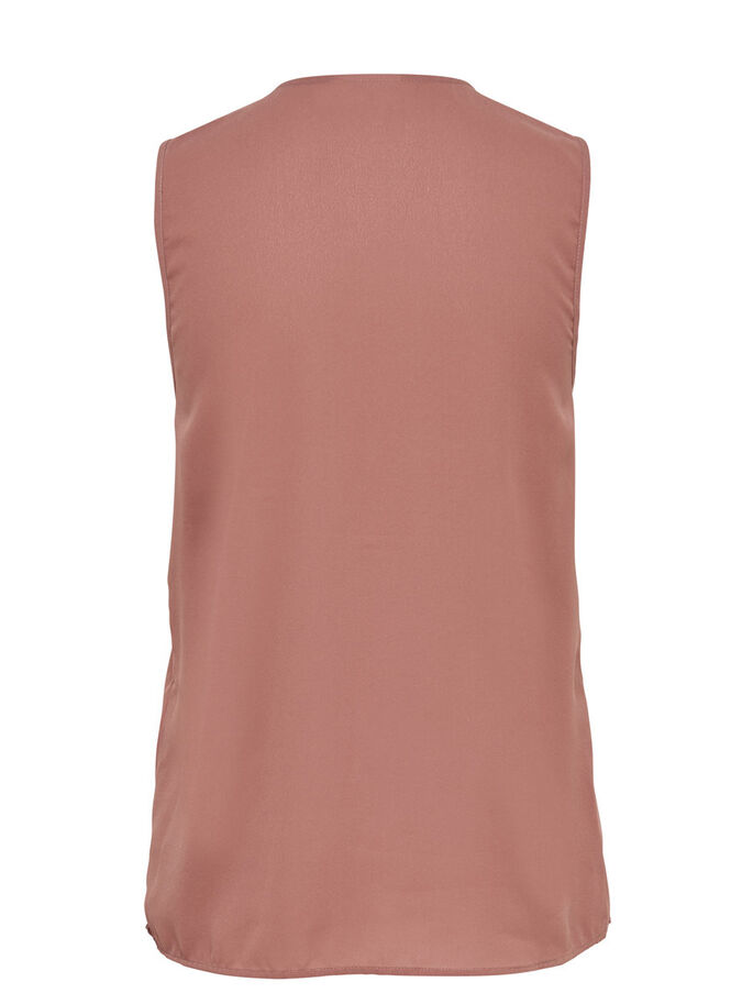 DETAILED SLEEVELESS TOP, Cognac, large