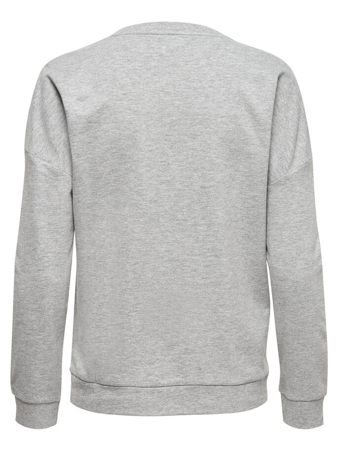 WEIHNACHTLICHES SWEATSHIRT, Light Grey Melange, large