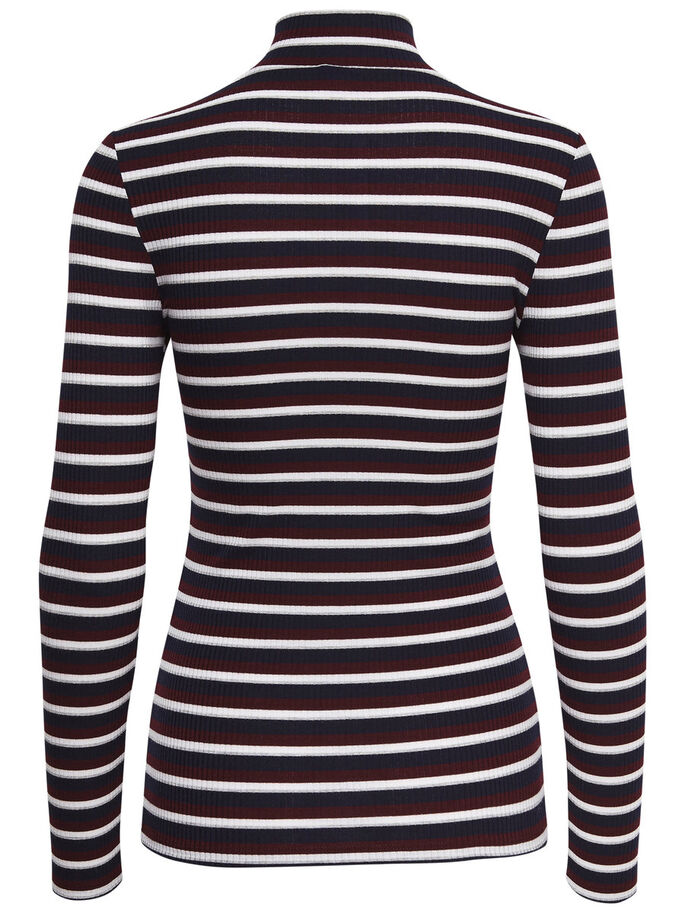 HØJ HALSET LONG SLEEVED TOP, Sky Captain, large