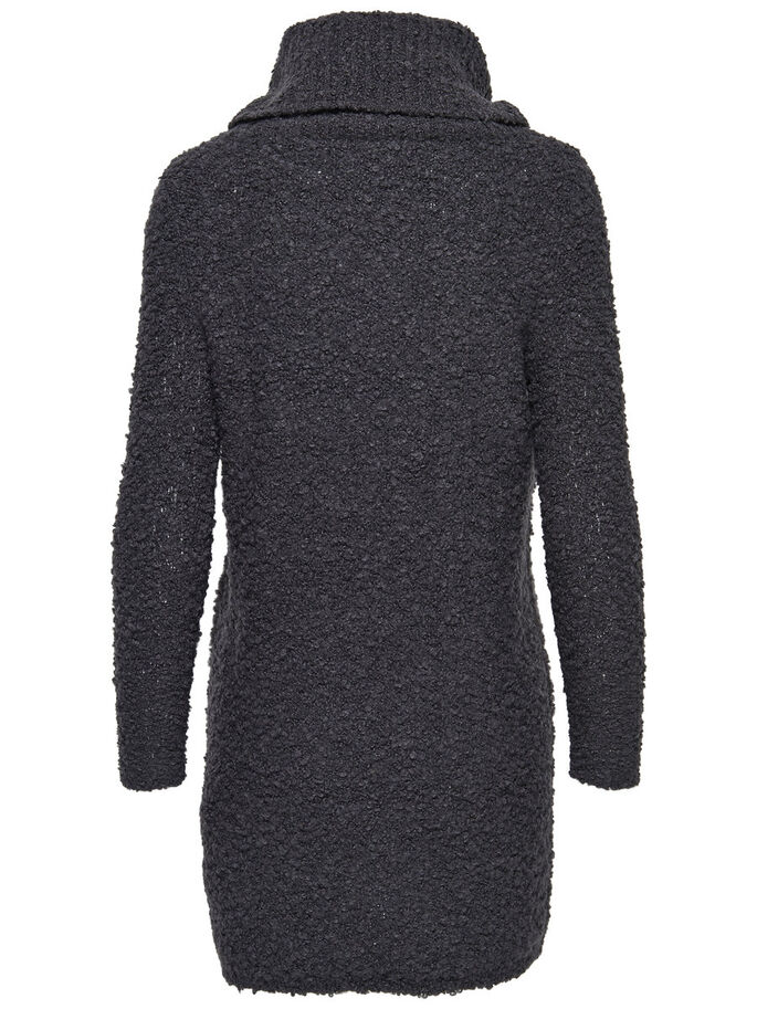 ROLLNECK KNITTED DRESS, Dark Navy, large