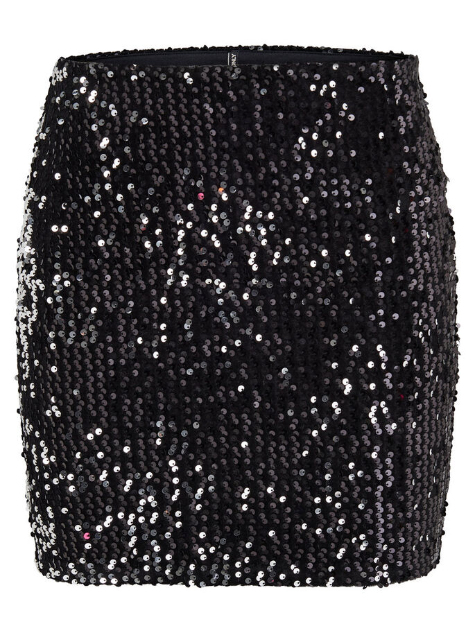 SEQUINS JUPE, Black, large