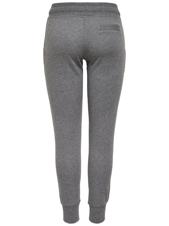 EINFARBIGE SWEATHOSE, Dark Grey Melange, large