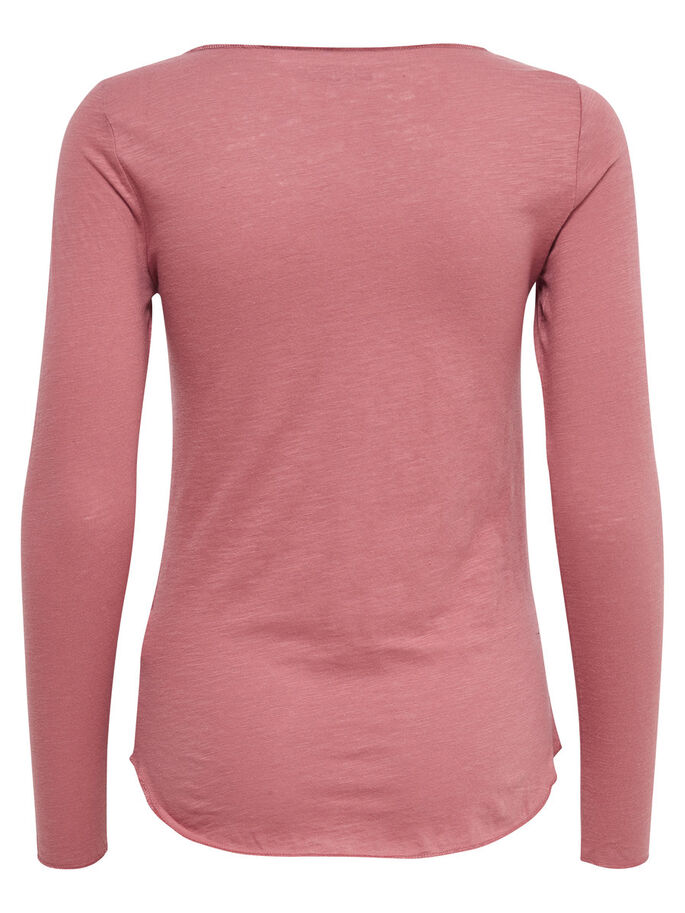 BASIC LONG SLEEVED TOP, Withered Rose, large