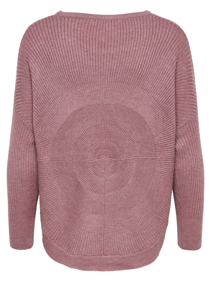 DETAILED KNITTED PULLOVER, Mesa Rose, large