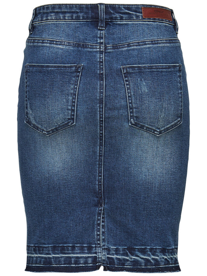 BLEISTIFT- JEANSROCK, Dark Blue Denim, large