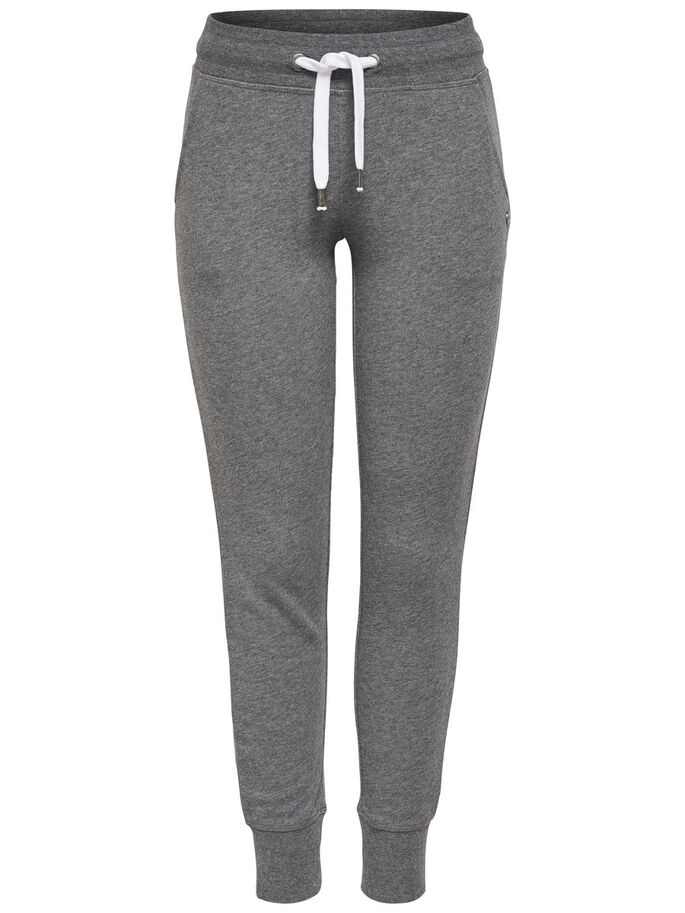 COULEUR UNIE JOGGING EN MOLLETON, Dark Grey Melange, large