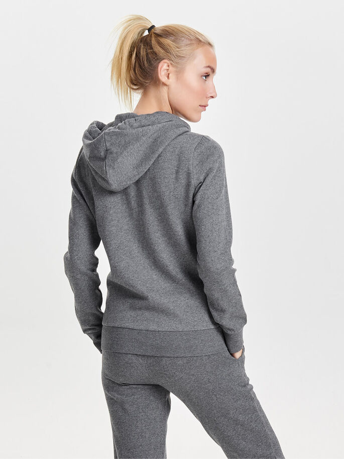 OVERSIZED SWEATSHIRT, Dark Grey Melange, large