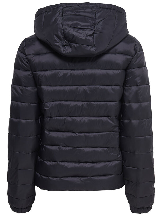 NYLON QUILTED JACKET, Black, large