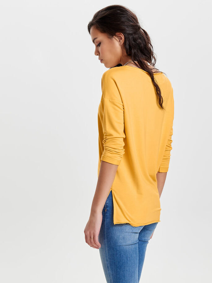 EFFEN SWEATSHIRT, Yolk Yellow, large