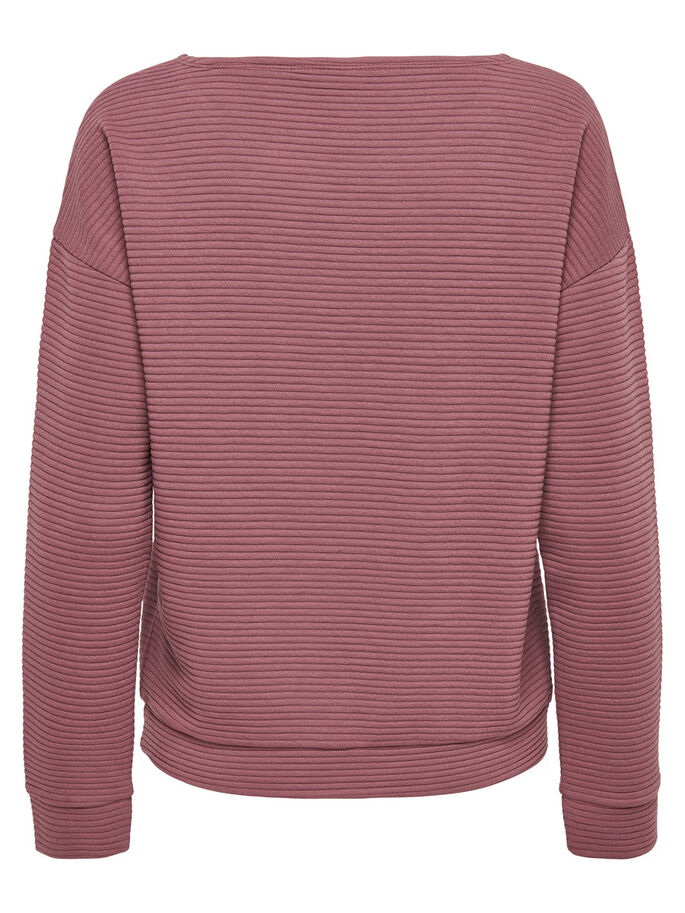 DETAILED LONG SLEEVED TOP, Rose Brown, large