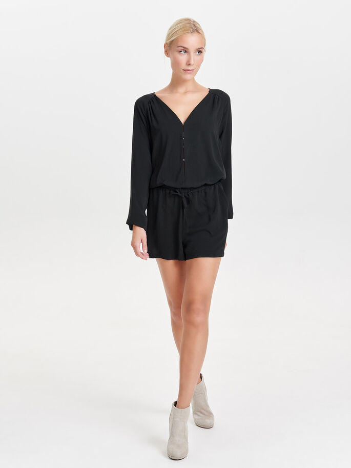 LANGE MOUW PLAYSUIT, Black, large