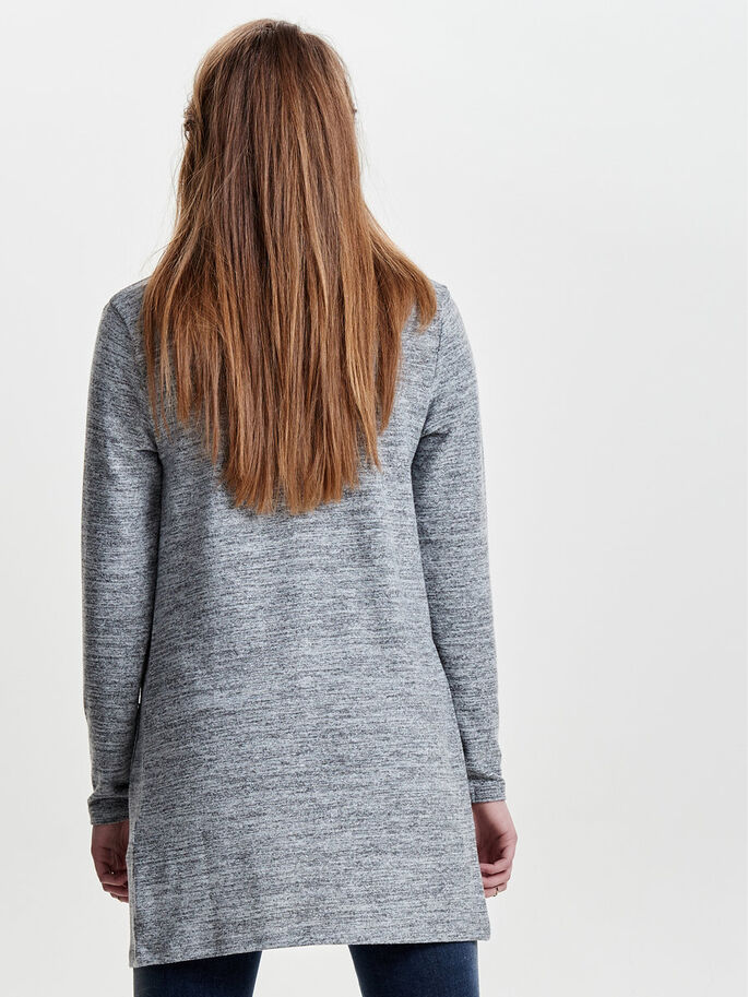 LÅNGÄRMAD KOFTA, Light Grey Melange, large
