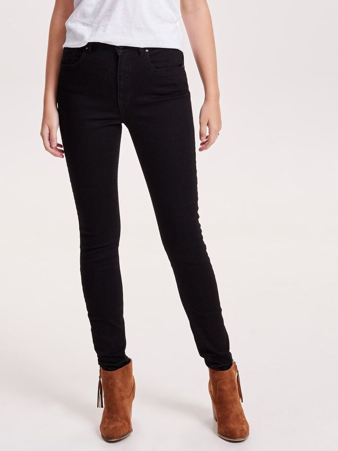 PIPER HW SKINNY FIT JEANS, Black, large