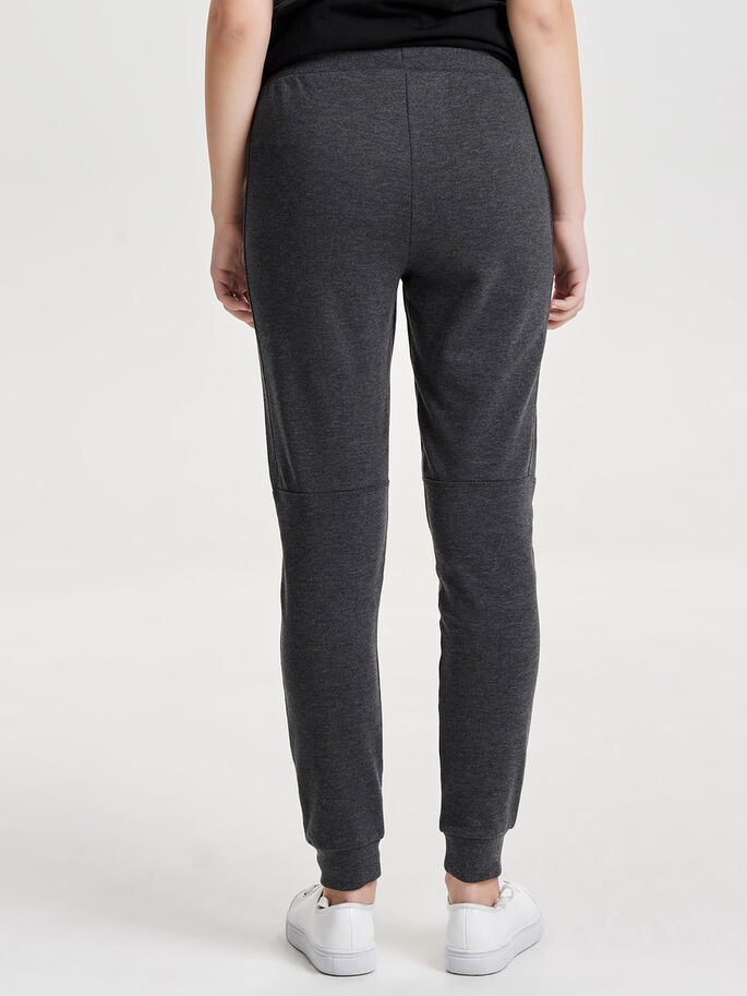 LOOSE SWEAT PANTS, Dark Grey Melange, large