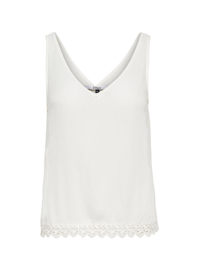DETAILED TANK TOP, Cloud Dancer, large