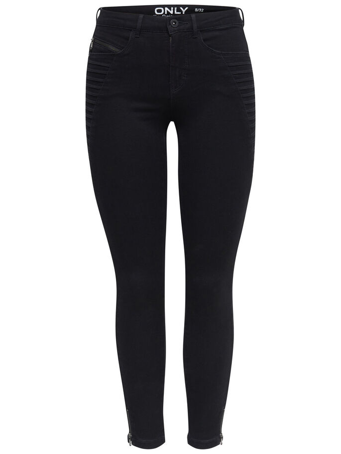 ROYAL REG ZIP SKINNY JEANS, Black, large