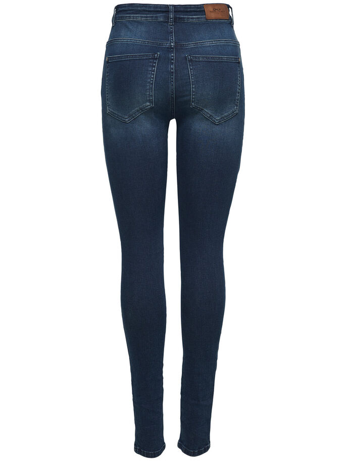 PIPER HW SKINNY FIT JEANS, Dark Blue Denim, large