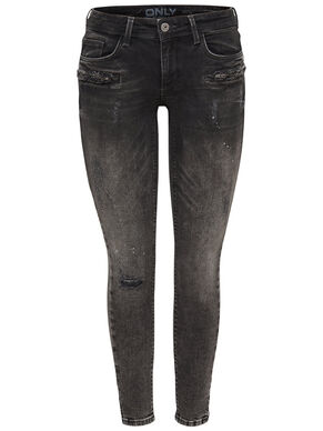 CARRIE LOW ZIP ANKLE SKINNY FIT JEANS