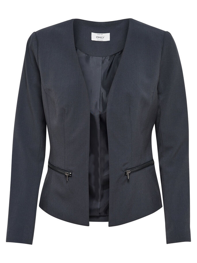 SHORT BLAZER, Blue Graphite, large