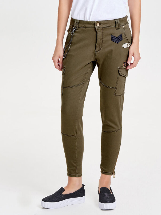 PATCH ANKLE CARGO PANTS, Tarmac, large