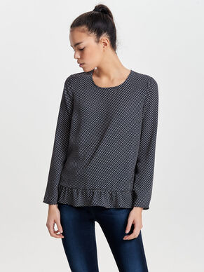 FRILL LONG SLEEVED TOP