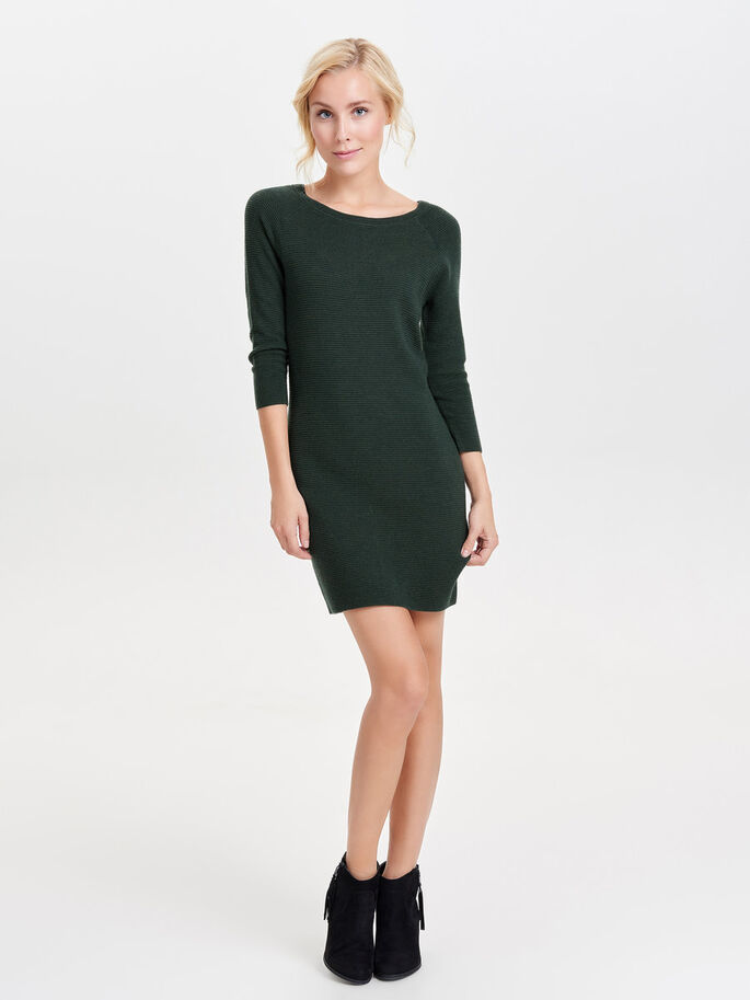 DETAILED KNITTED DRESS, Scarab, large