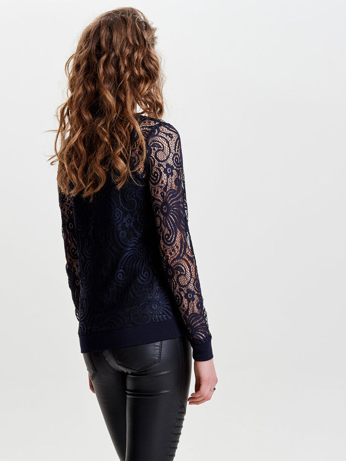 BLONDE LONG SLEEVED TOP, Night Sky, large