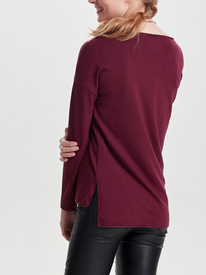 DETAILLIERTES SWEATSHIRT, Windsor Wine, large
