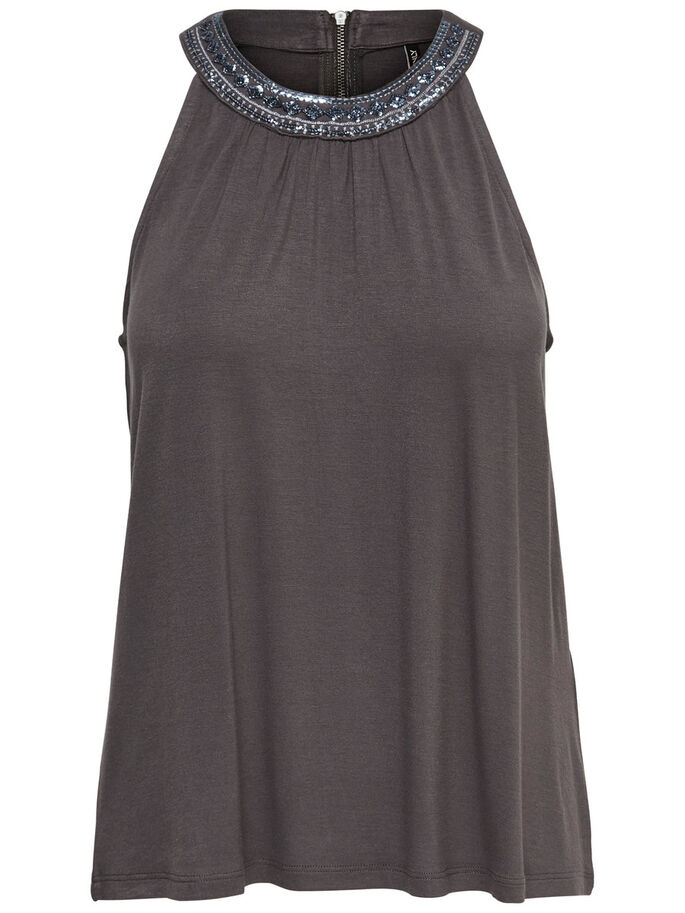 DETAILED SLEEVELESS TOP, Magnet, large