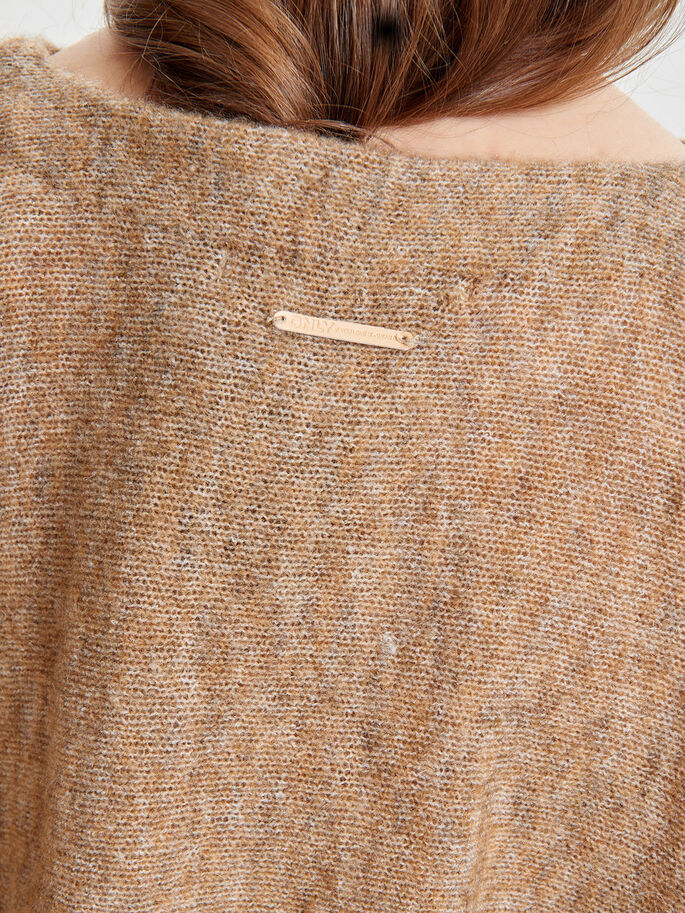 OVERSIZED KNITTED PULLOVER, Pumice Stone, large