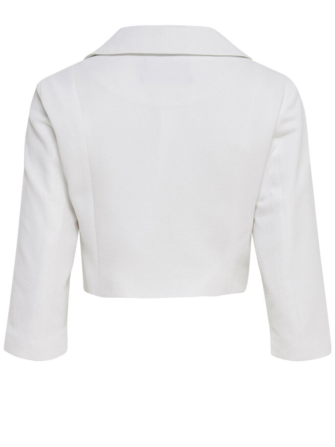 BLAZER- BOLERO, White, large