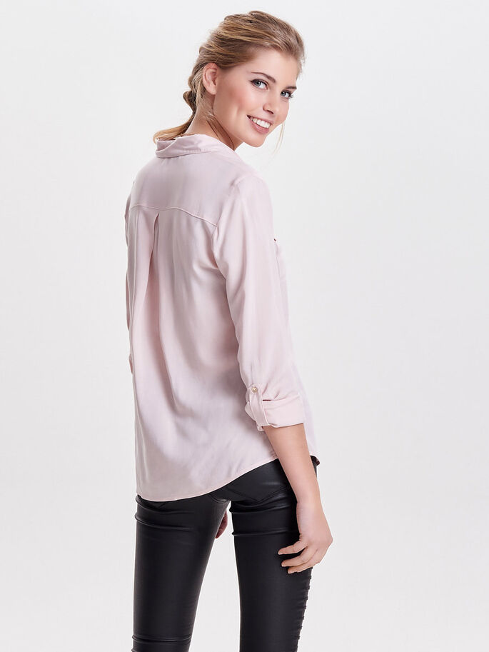 WOVEN LONG SLEEVED SHIRT, Sepia Rose, large