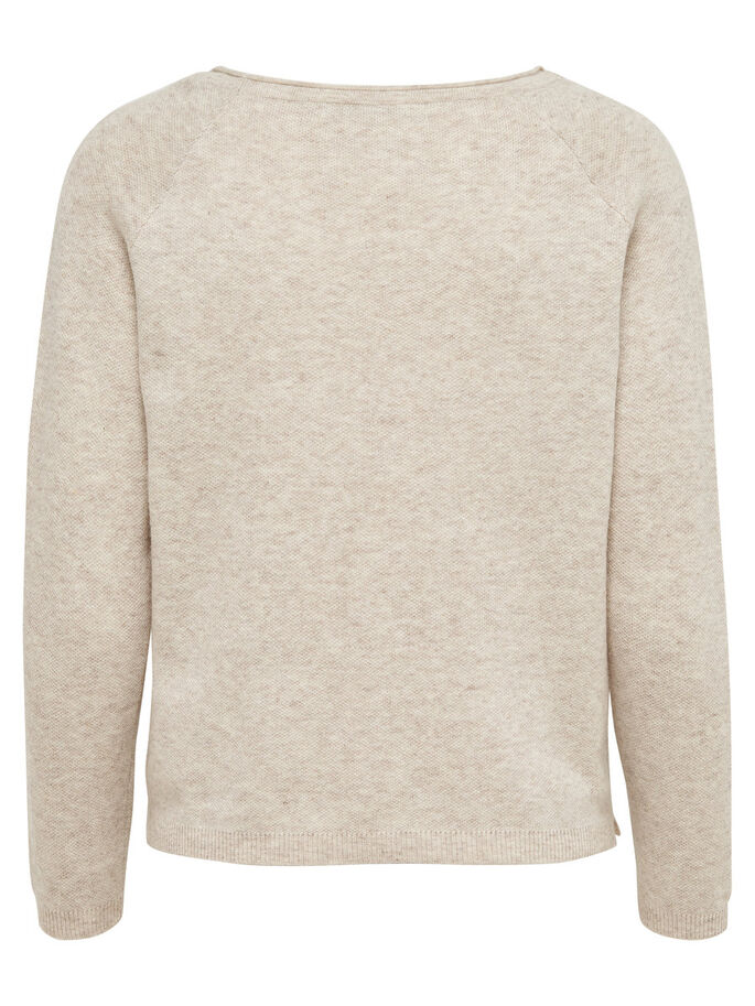 DETAILED KNITTED PULLOVER, Whitecap Gray, large
