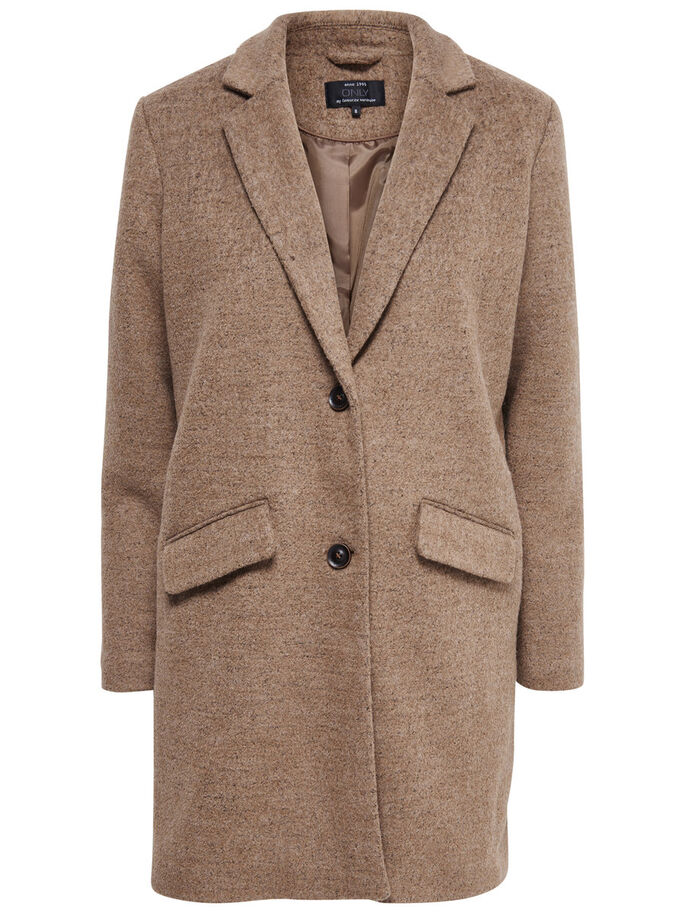 WOOL COAT, Camel, large