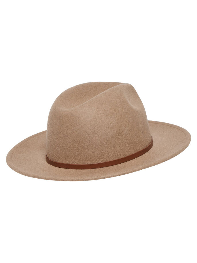 WOOL HAT, Camel, large