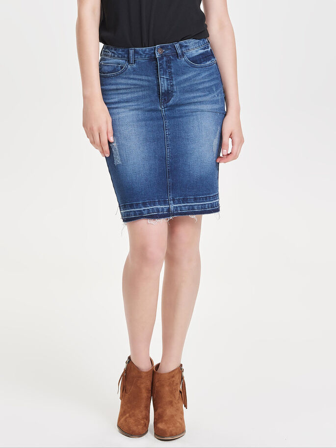 KOKER DENIM ROK, Dark Blue Denim, large