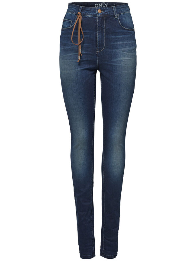 PIPER HW SKINNY FIT JEANS, Medium Blue Denim, large