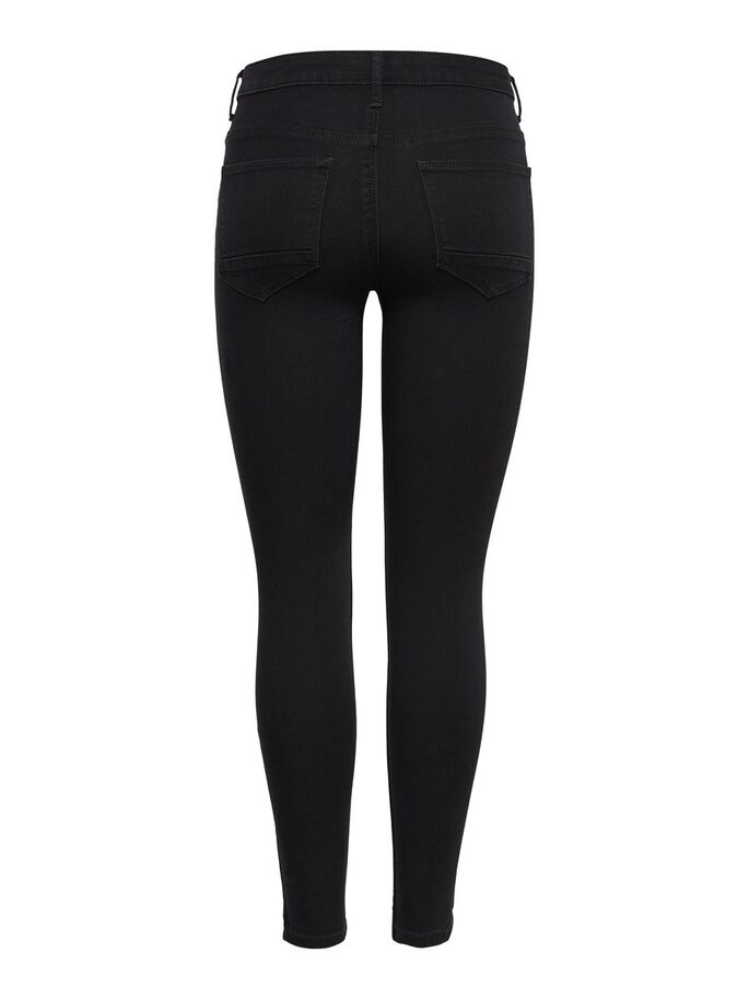 KENDELL ETERNAL ANKLE SKINNY FIT JEANS, Black, large
