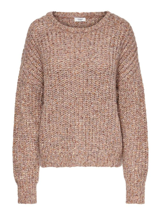 TEXTURE KNITTED PULLOVER, Nostalgia Rose, large