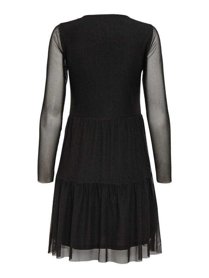 MESH DRESS, Black, large