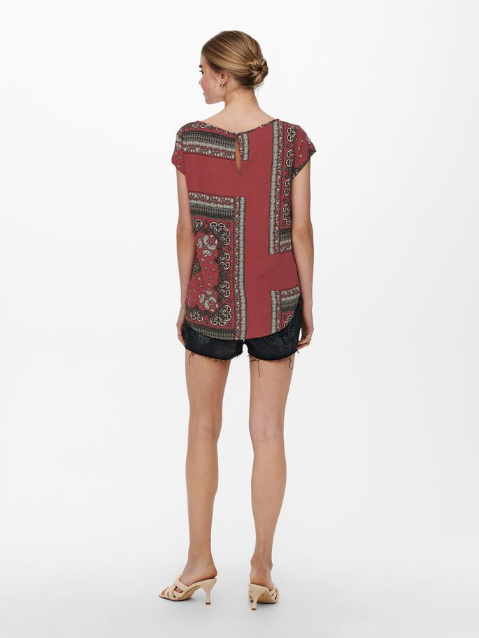 PRINTED TOP, Apple Butter, large