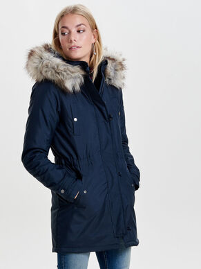 SOLID PARKA COAT