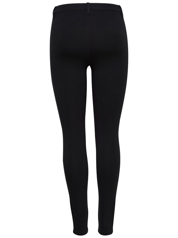 ZIP TROUSERS, Black, large