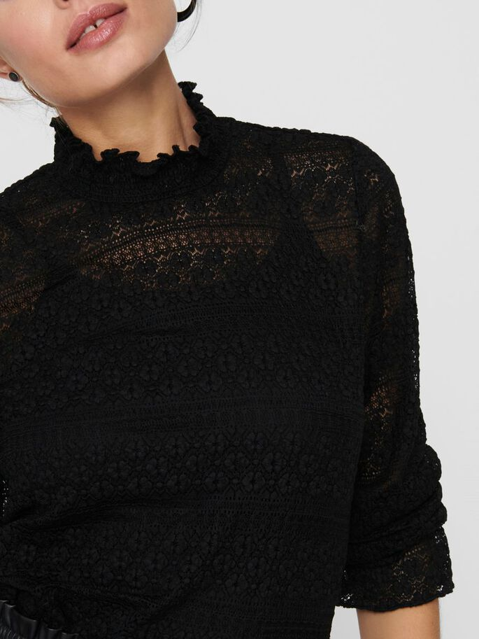 SMOKDETAIL TOP, Black, large